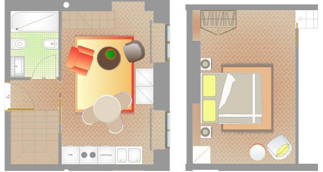 Suite venaria reale piazza vittorio suites for Piani di casa con atrio in centro